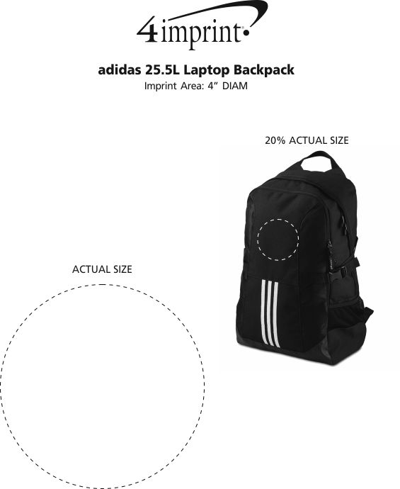 6c87f7d501 4imprint.com  adidas 25.5L Laptop Backpack 135507