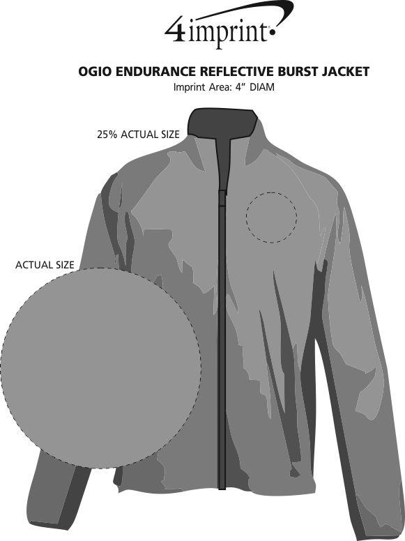 7211a3717cc ... OGIO Endurance Reflective Burst Jacket. 360° view · View Imprint
