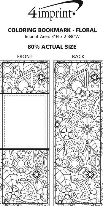 4imprint.com: Coloring Bookmark - Floral 138408-FL