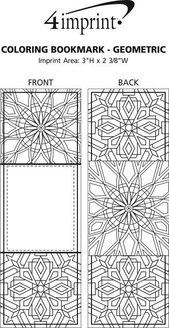 4imprint.com: Coloring Bookmark - Geometric 138408-GEO