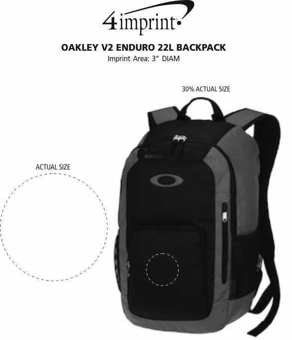 0fb52d6d9c ... Oakley v2 Enduro 22L Backpack Image 3 of 3. View Imprint