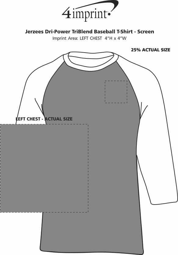 4820f8f7 4imprint.com: Jerzees Dri-Power Tri-Blend Baseball T-Shirt - Screen ...