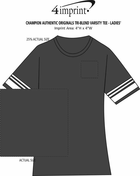 bdf525f78539 4imprint.com  Champion Originals Tri-Blend Varsity Tee - Ladies ...