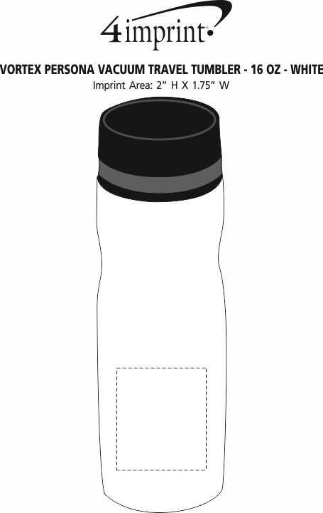 a4f98fcf524 4imprint.com: Vortex Persona Vacuum Tumbler - 16 oz. - White 140541-W