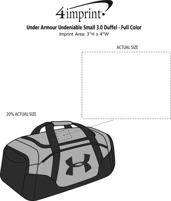 4e71fec87 ... Under Armour Undeniable Small 3.0 Duffel - Embroidered. View Imprint