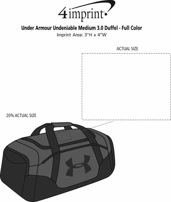 f5bb48b22 ... Under Armour Undeniable Medium 3.0 Duffel - Embroidered. View Imprint
