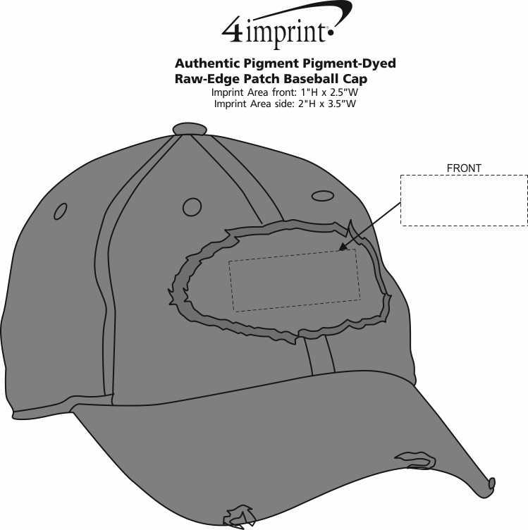 4imprint.com  Authentic Pigment Pigment-Dyed Raw-Edge Patch Baseball ... 6a9f0d061372