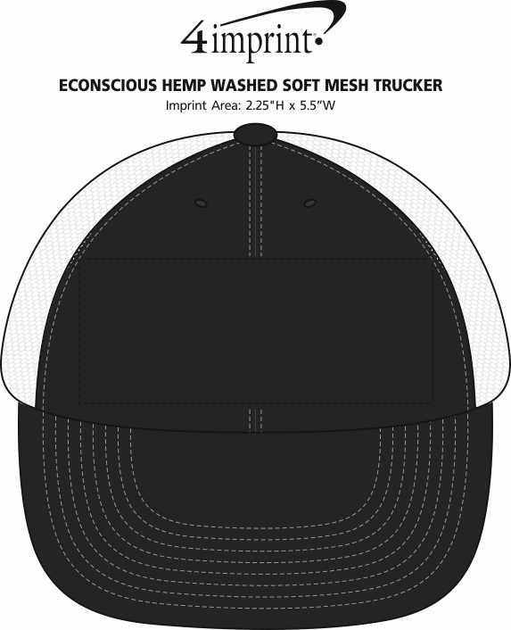 af6539d4c05 4imprint.com  Econscious Hemp Washed Soft Mesh Trucker 143499