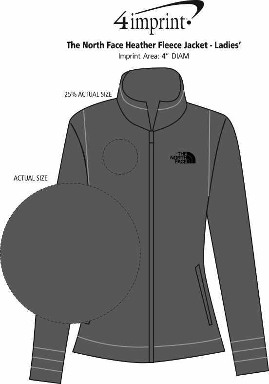 22c7777e9cae ... The North Face Heather Fleece Jacket - Ladies . 360° view · View Imprint
