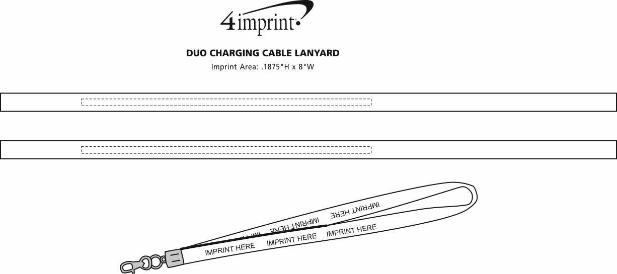 4imprint Duo Charging Cable Lanyard 144443