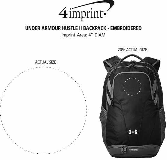 ... Under Armour Hustle II Backpack - Embroidered Image 5 of 5. View Imprint 9ff21f2b60