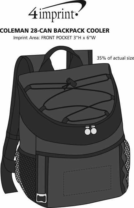 46d45c12b ... Coleman 28-Can Backpack Cooler. 360° view · View Imprint