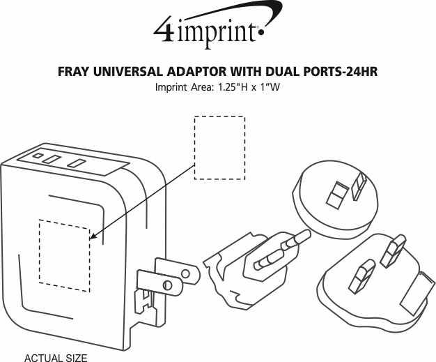 4imprint Com Fray Universal Dual Port Wall Charger