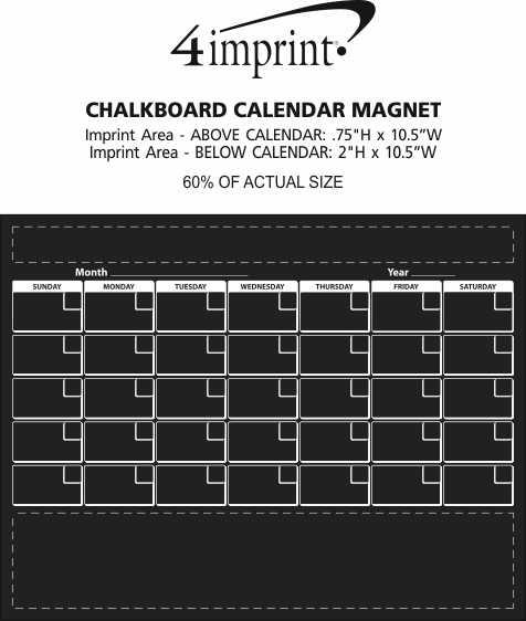 4imprint Com Chalkboard Calendar Magnet 148195