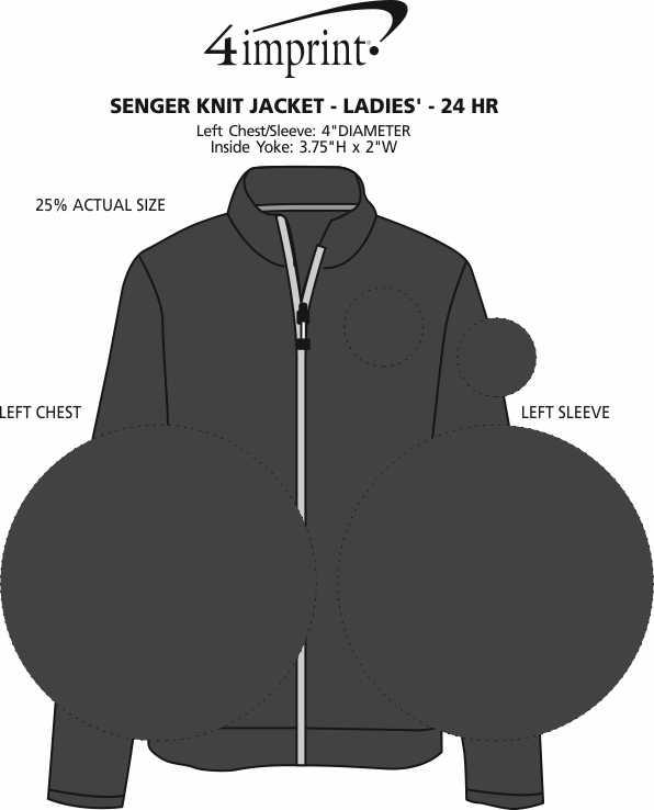 52bf4e976 4imprint.com  Senger Knit Jacket - Ladies  - 24 hr 148594-L-24HR