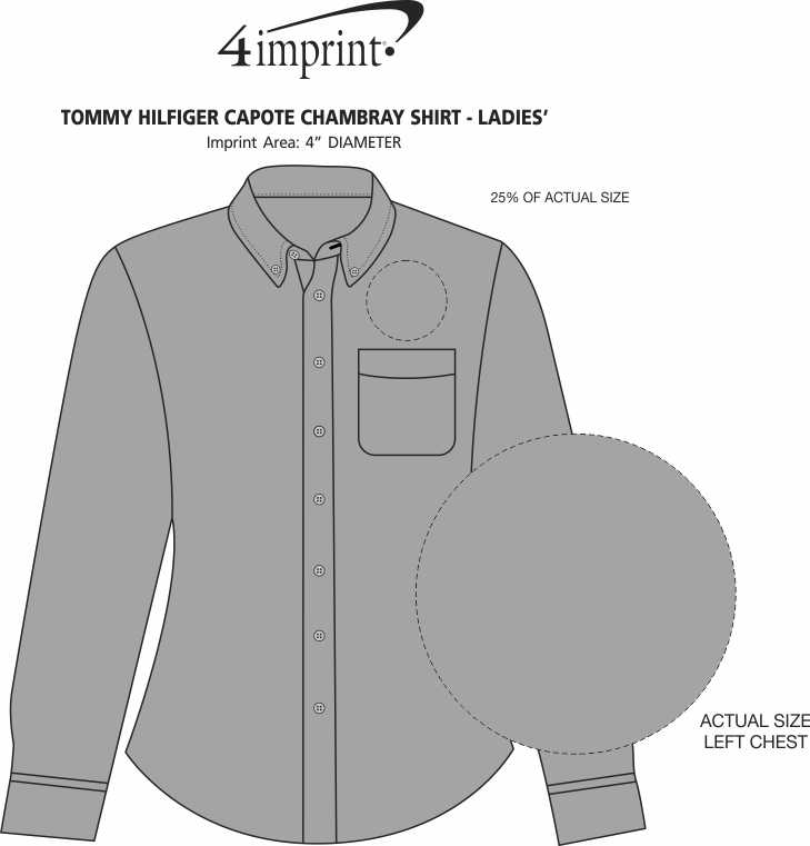 94d9e7118 ... Tommy Hilfiger Capote Chambray Shirt - Ladies'. 360° view · View Imprint