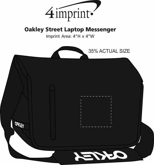 61fcd95c0d ... Oakley Street Laptop Messenger Image 3 of 3. View Imprint