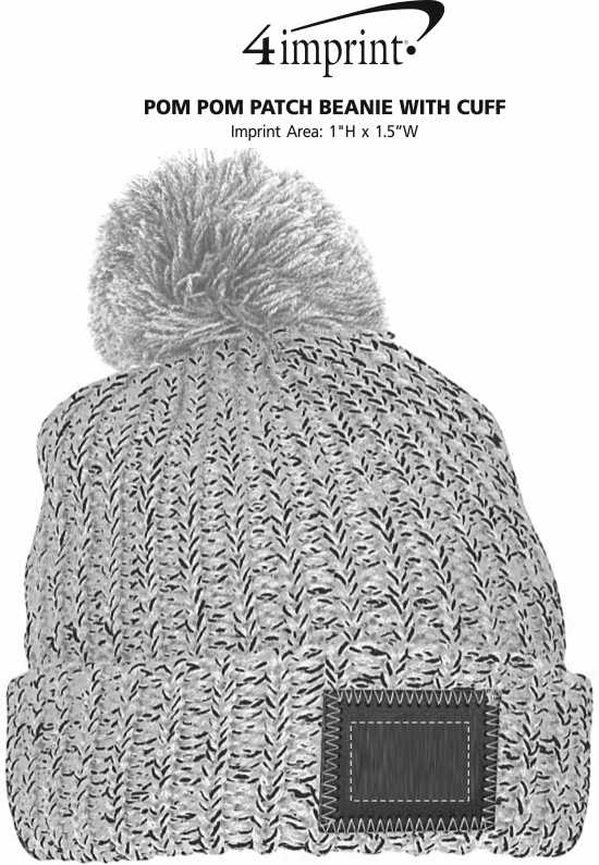 2b527ef53de 4imprint.com  Pom Pom Patch Beanie with Cuff 150401