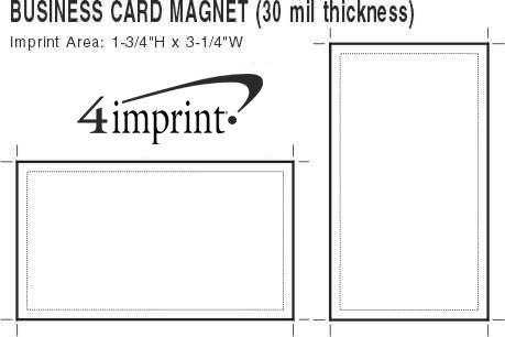4imprint business card magnet 30 mil 16045 view imprint area business card magnet reheart Choice Image
