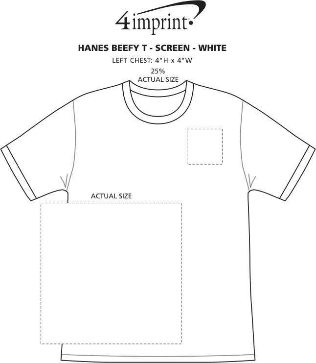 acf640d0 4imprint.com: Hanes Beefy-T - Screen - White 32140-S-W