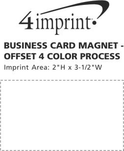 4imprint business card magnet full color process 3560 view imprint area business card magnet full color process reheart Gallery