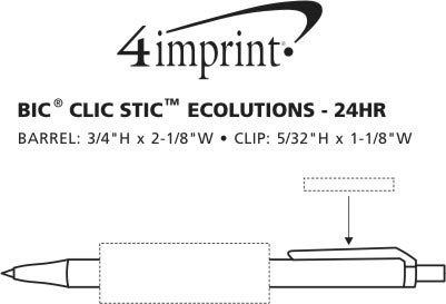 student organizations bic clic stic ecolutions ballpoint pen imprint