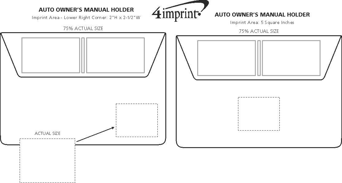 4imprint auto owners manual holder 4930 view imprint area publicscrutiny Images