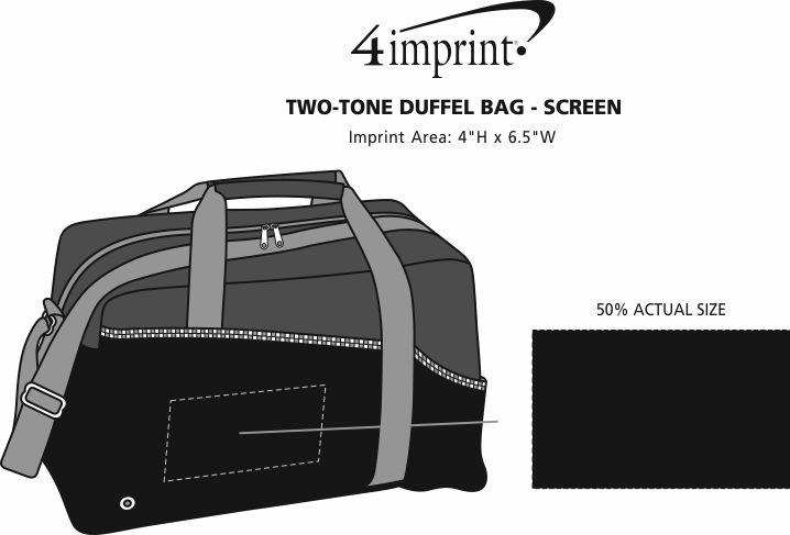 c5033b00c2 Two-Tone Duffel Bag - Screen Main Image · View Imprint