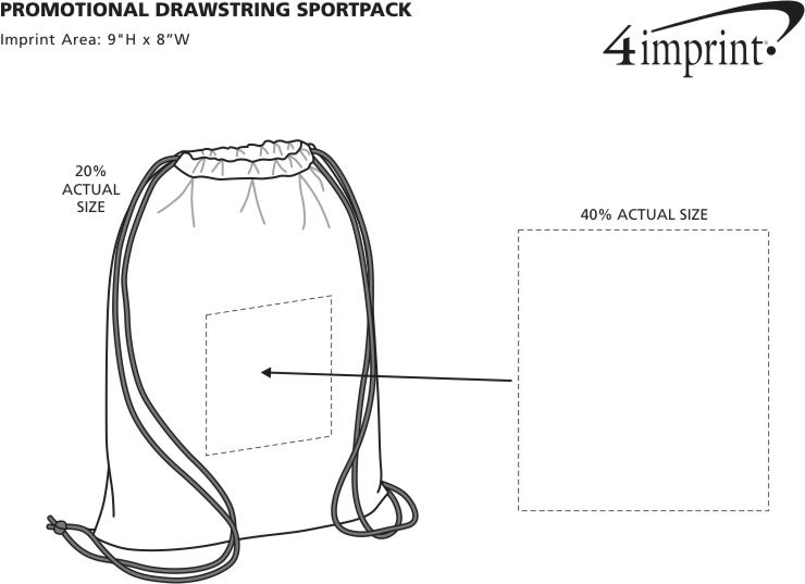 Promotional Drawstring Sportpack (Item No. 7194) from only 79c ...
