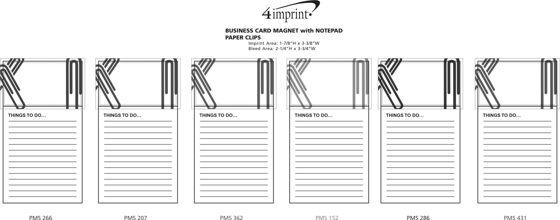 4imprint.com: Bic Business Card Magnet with Notepad - Paper Clips ...