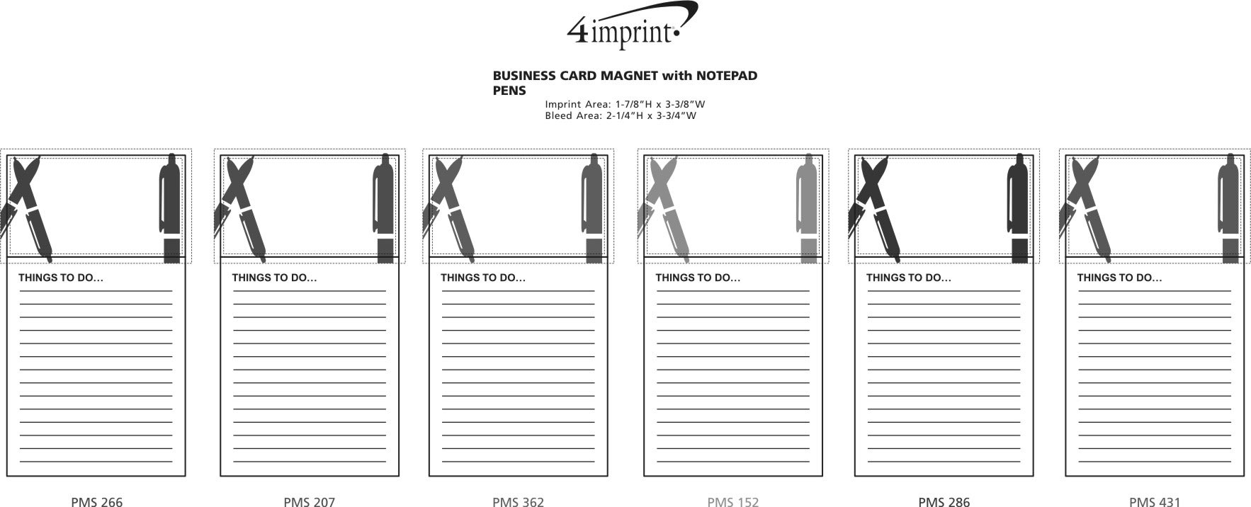 4imprint.com: Bic Business Card Magnet with Notepad - Pens 7873-PN
