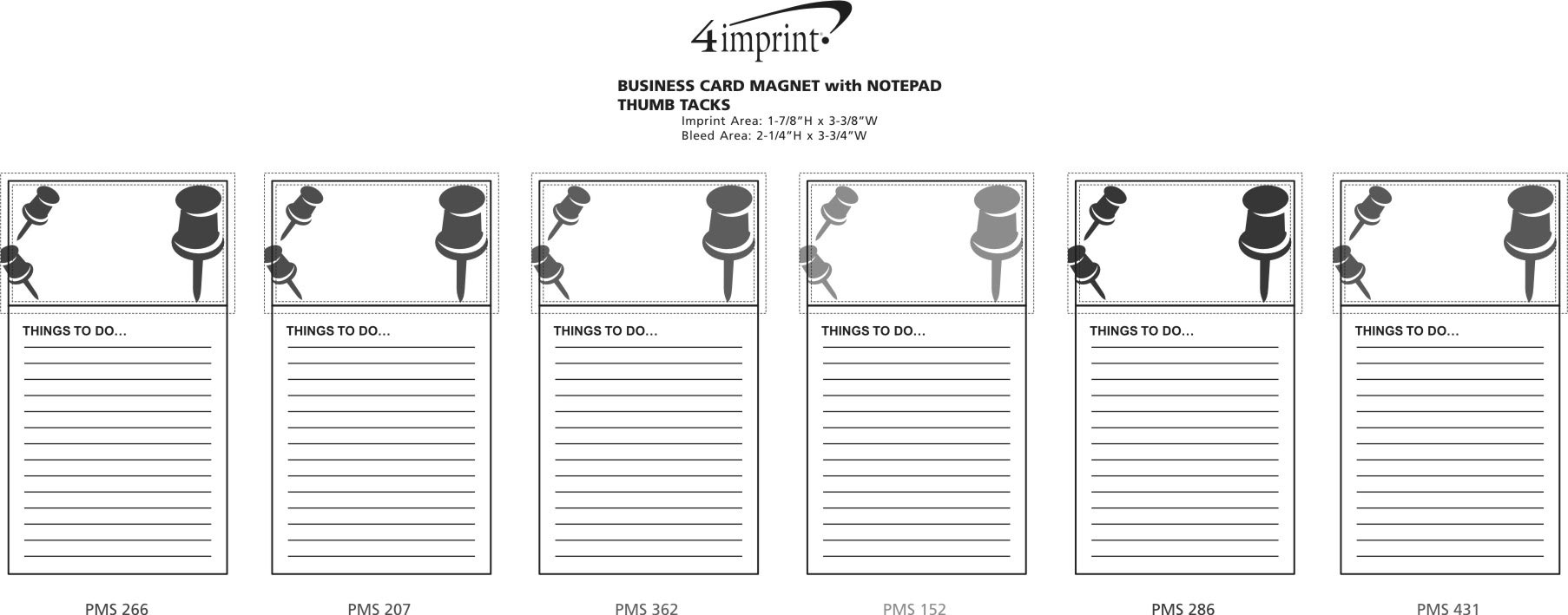 4imprint.com: Bic Business Card Magnet with Notepad - Thumb Tacks ...