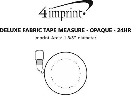 4imprint Deluxe Fabric Tape Measure Opaque 24 Hr 84029 S 24hr