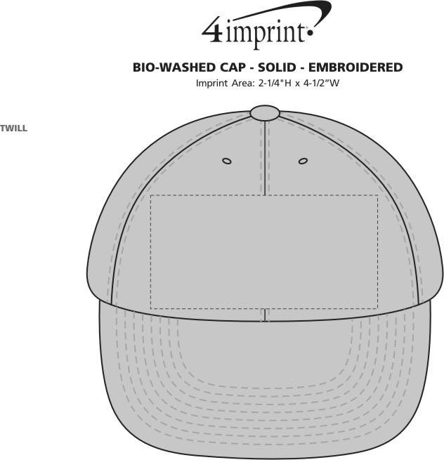 4imprint.com  Bio-Washed Cap - Solid - Embroidered 9646-S-E c42244d98ea0