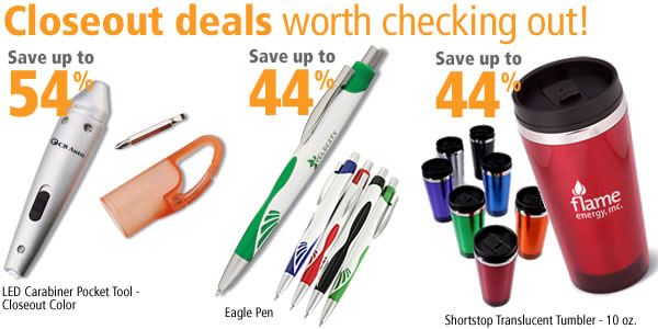 Closeouts worth checking out!