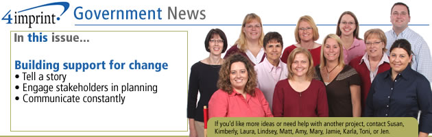 Building support for change