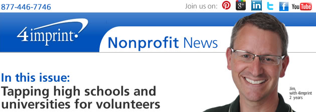Tapping high schools and universities for volunteers