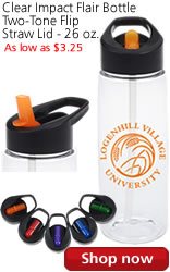 Clear Impact Flair Bottle Two-Tone Flip Straw Lid - 26 oz.