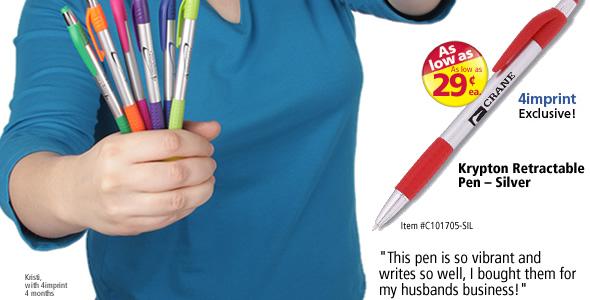 Krypton Retractable Pen – Silver #C101705-SIL