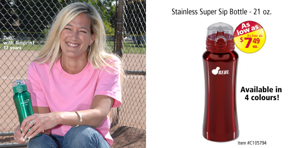 Stainless Super Sip Bottle - 21 oz. #C105794