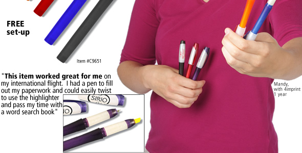 Bic Duo Highlighter / Pen #C9651