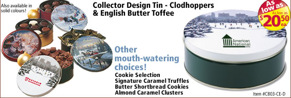 Collector Design Tin - Clodhoppers & English Butter Toffee #C803-CE-D