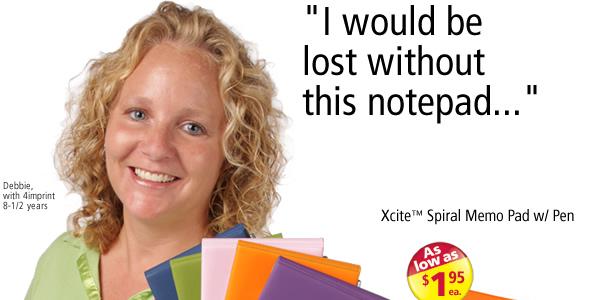Xcite Spiral Memo Pad w/ Pen #101330