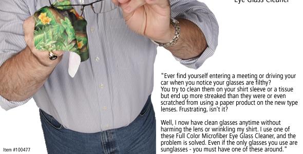 Full Color Microfiber Eye Glass Cleaner #100477