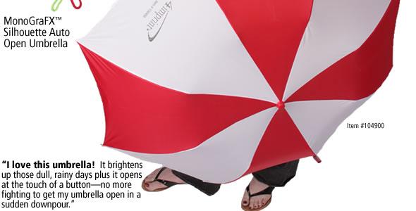 MonoGraFX Silhouette Auto Open Umbrella #104900