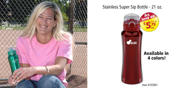 Stainless Super Sip Bottle - 21 oz. #103851