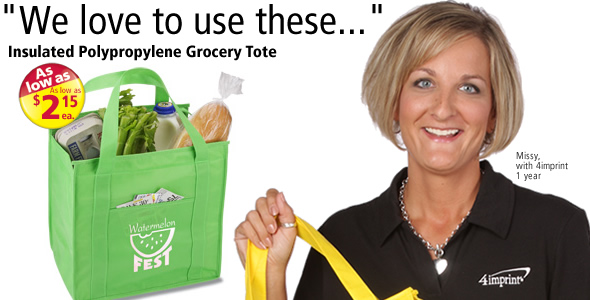 Insulated Polypropylene Grocery Tote #102408