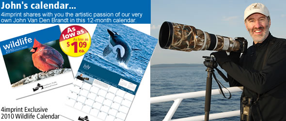 4imprint Exclusive 2010 Wildlife Calendar #9367