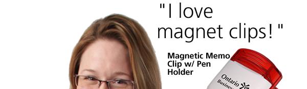 Magnetic Memo Clip w/ Pen Holder
