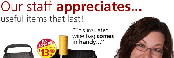 Our staff appreciates...